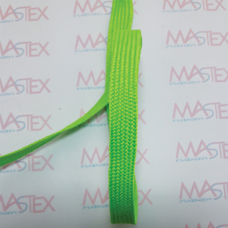 TRESSE PLATE POLYESTER FLUO
